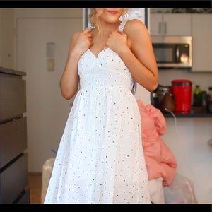 Princess Polly Polka Dot Midi Dress